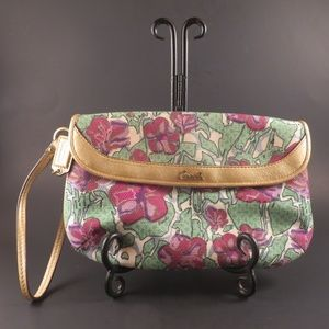 Coach Ashley Rare Floral Wristlet/Clutch